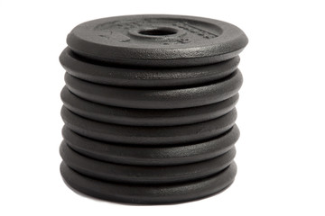 dumbbell weights on white