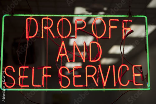 laundromat neon sign
