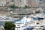 Luxurious yachts docked in Monaco Monte Carlo