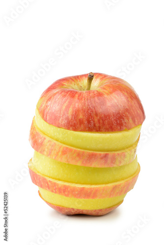 Rodajas de manzana mezcladas