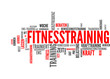 Fitnesstraining (Fitness, Training, Sport; Tagcloud)