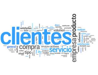 Clientes (cliente, consumidor; tag cloud español)
