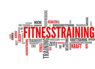 Fitnesstraining (Fitness, Training, Sport; Tagcloud)