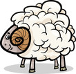 ram farm animal cartoon illustration
