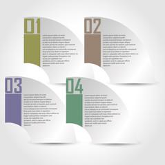 Kağıt etiketleri ile Infographic tasarım şablonu
