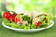 Kebab - grilled meat and vegetables,