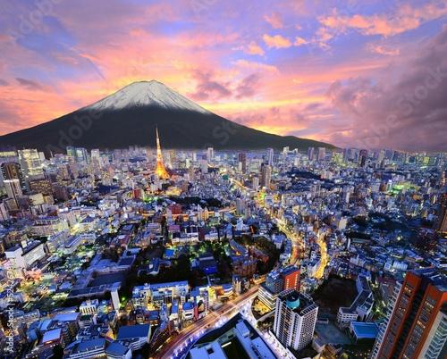Plexiglas Tokyo Tokyo and Fuji