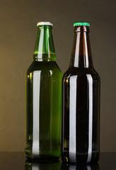 Bottles of beer on dark background