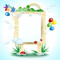 Spring signboard