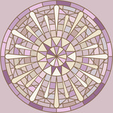 Mucha inspired round mosaic ornament