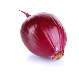 Purple onion isolated on white