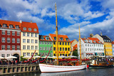 Nyhavn is old waterfront and canal district in Copenhagen.