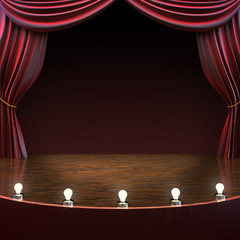 Lighted stage background ,room for text or copy space