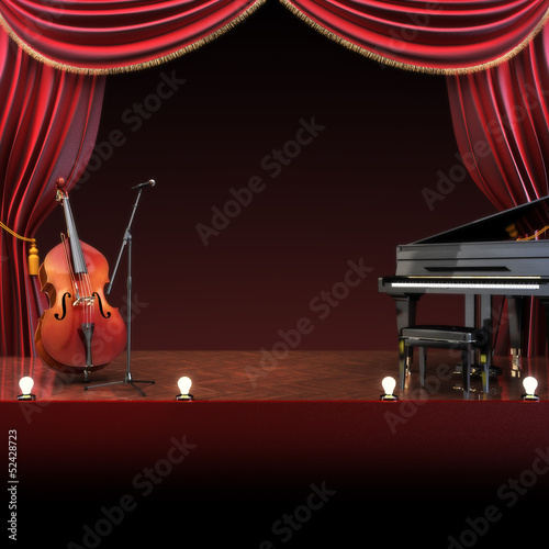 Orchestra symphony themed stage,room for text or copy space