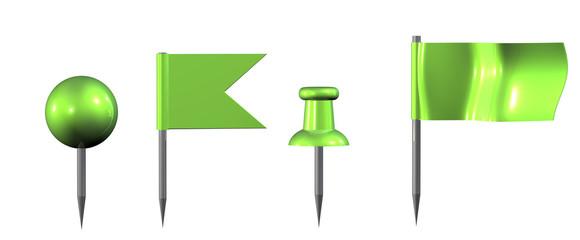 Pin Set Grün