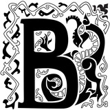 Gargoyle ornate capital letter B
