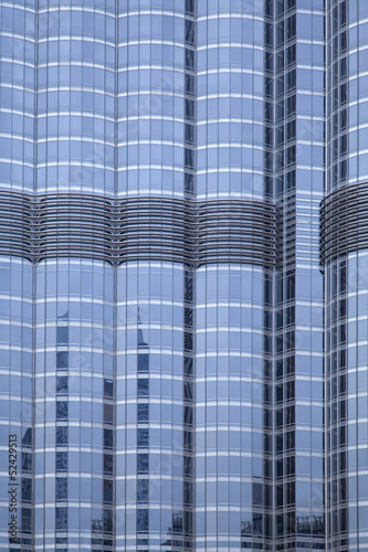 Closeup of building facade, Dubai