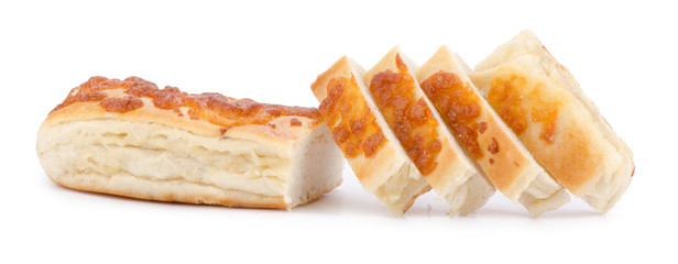 freshly baked pies with cheese