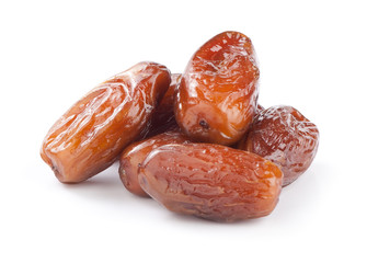 Dates isolated on white background