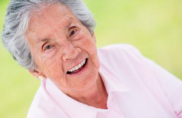 Happy elder woman