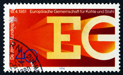 Postage stamp Germany 1976 European Coal and Steel Community
