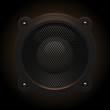 speaker on black background vector