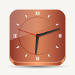 Wooden clock vector illustration