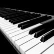 3D piano keyboard