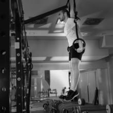 Crossfit plongeon de fitness bague homme trempage exercice entraînement
