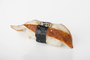 Sushi with eel and sesame
