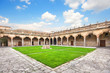 Courtyard of old University of Salamanca, Castilla y Leon, Spain