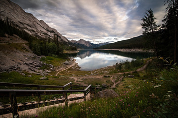 Medicine Lake at Sunset - Jasper National Park, Alberta Canada