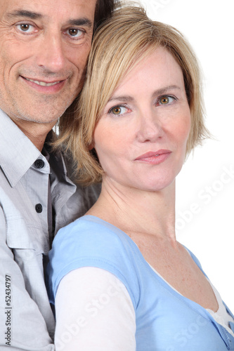 Couple in tender embrace