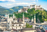 Beautiful view of the historic city of Salzburg, Austria