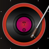 Retro gramophone and Vinyl Background