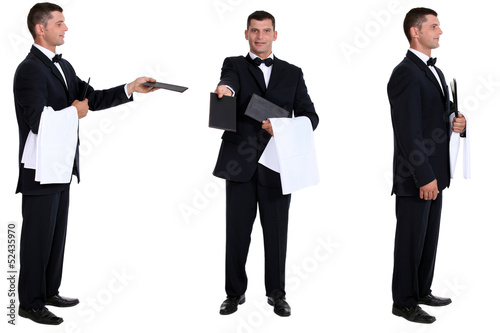 Multiple shot of waiter