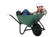Tradesman in a wheelbarrow