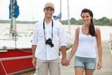 Couple on a pontoon