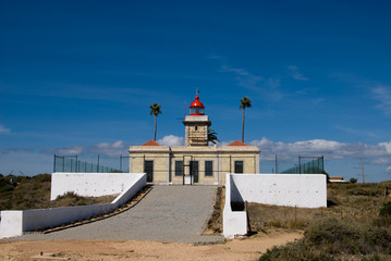 The lighthouse in Algarve, Portugal
