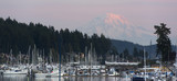 Mt Rainier Yachts Boats Buildings Gig Harbor Washington USA