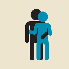 couple -  hug and dance