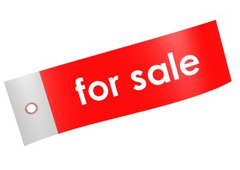 For sale label