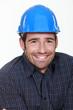Happy manual worker.