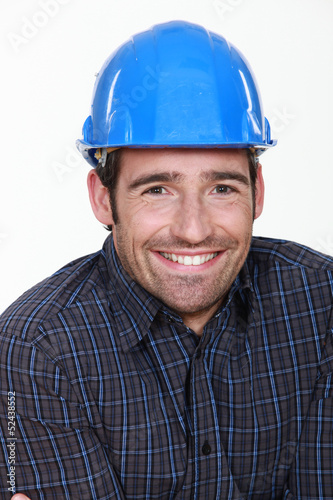 Happy manual worker.
