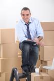 Man preparing to move