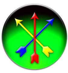 Crossed coloured arrows icon