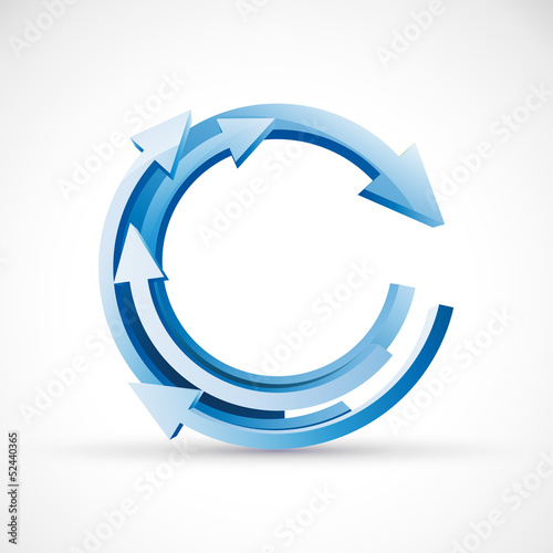 Vector 3D Blue Arrows Background