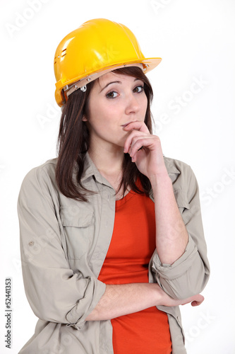 thoughtful female apprentice