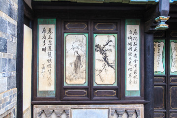 Paintings on ancient chinese temple