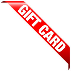 "Banner ""Gift Card"" Red"